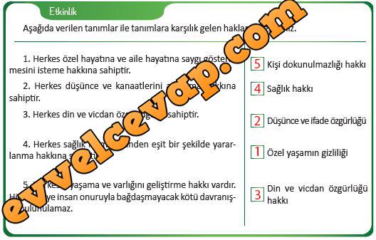 4 Sınıf Insan Hakları Meb Ders Sayfa 2 Ders Ve çalışma