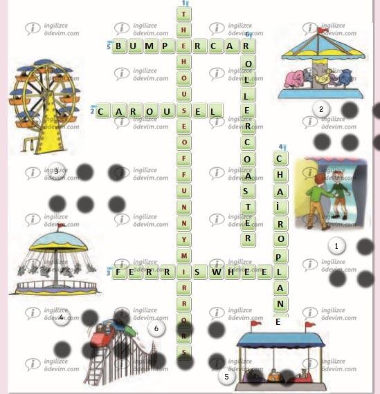 6. Sınıf Ada Yayınları İngilizce Çalışma Kitabı ( Workbook) Unit 5 At the fair Cevapkarı - 1