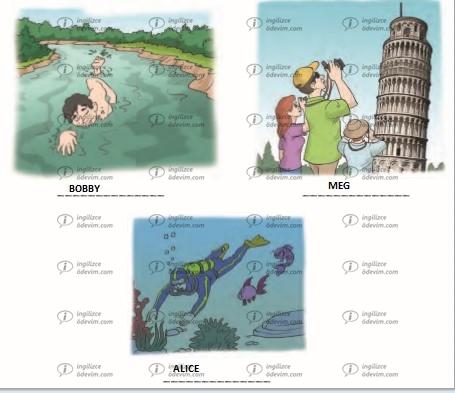 6. Sınıf Ada Yayınları İngilizce Çalışma Kitabı (Workbook) Unit 6 Vacation Cevapları - 2