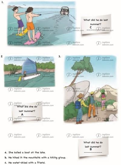 6. Sınıf Ada Yayınları İngilizce Çalışma Kitabı (Workbook) Unit 6 Vacation Cevapları - 3