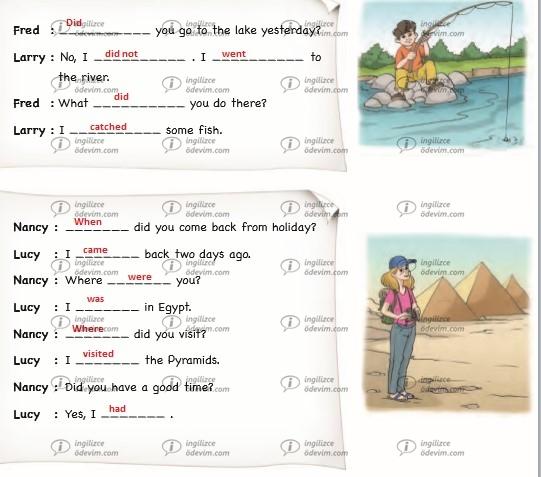 6. Sınıf Ada Yayınları İngilizce Çalışma Kitabı (Workbook) Unit 6 Vacation Cevapları - 8