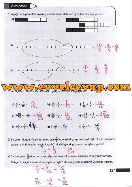 5 Sınıf Matematik Ders Kitabı Meb Yayınları Sayfa 127 Ders Ve