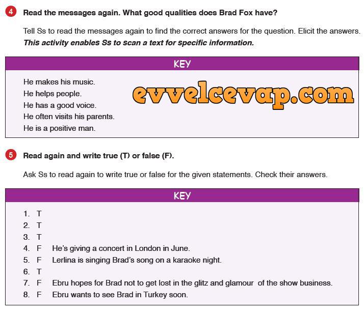 9 Sınıf Ingilizce Ders Kitabı Meb Yayınları Sayfa 65 Ders Ve